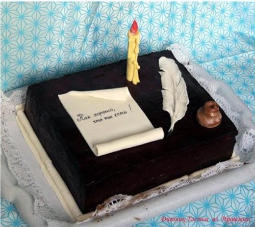 Как украсить торт своими руками для мужа
